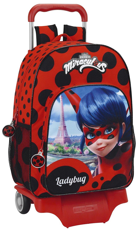 Mochila con ruedas escolar de Ladybug